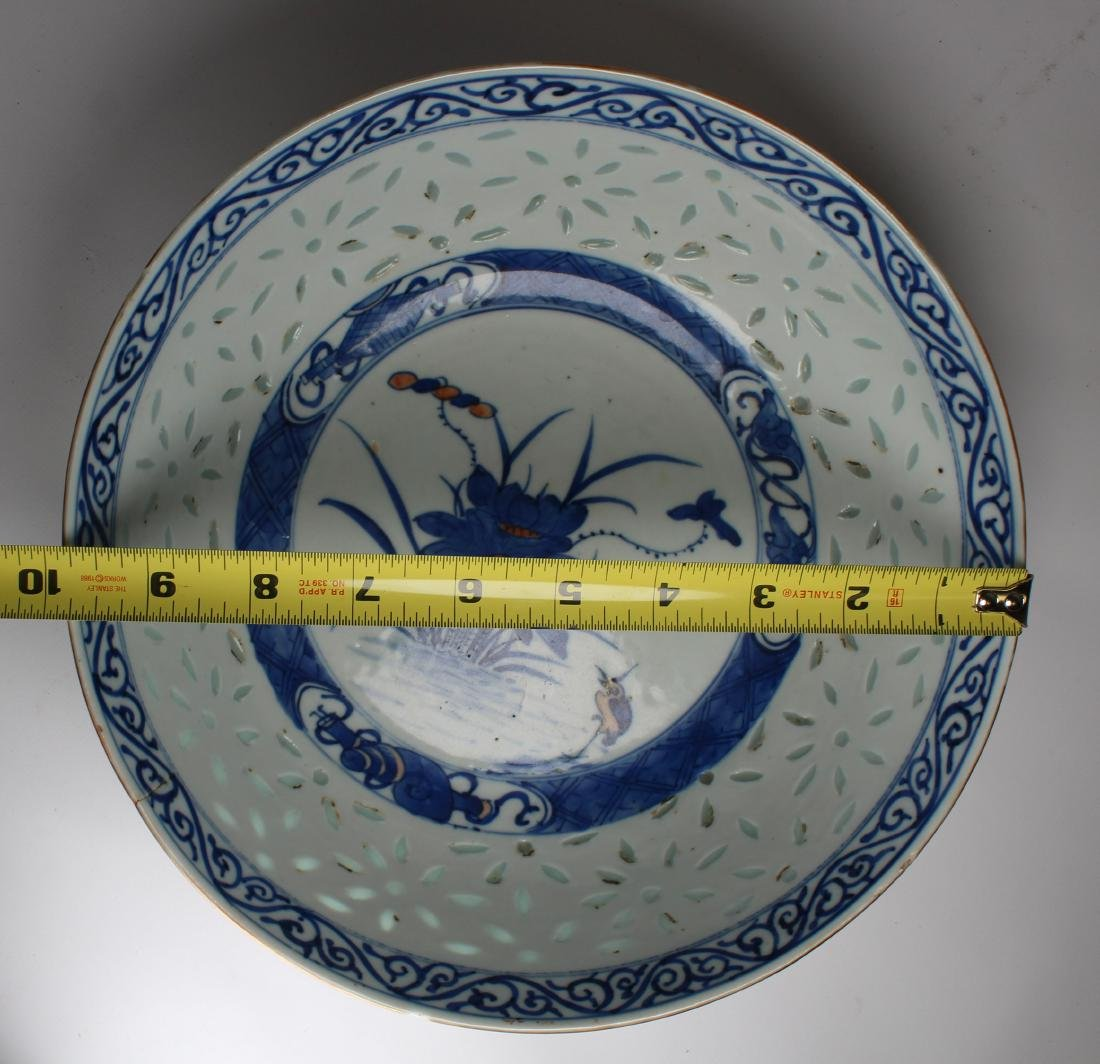 Chinese Hand Painted Porcelain Bowl, Signed - 3