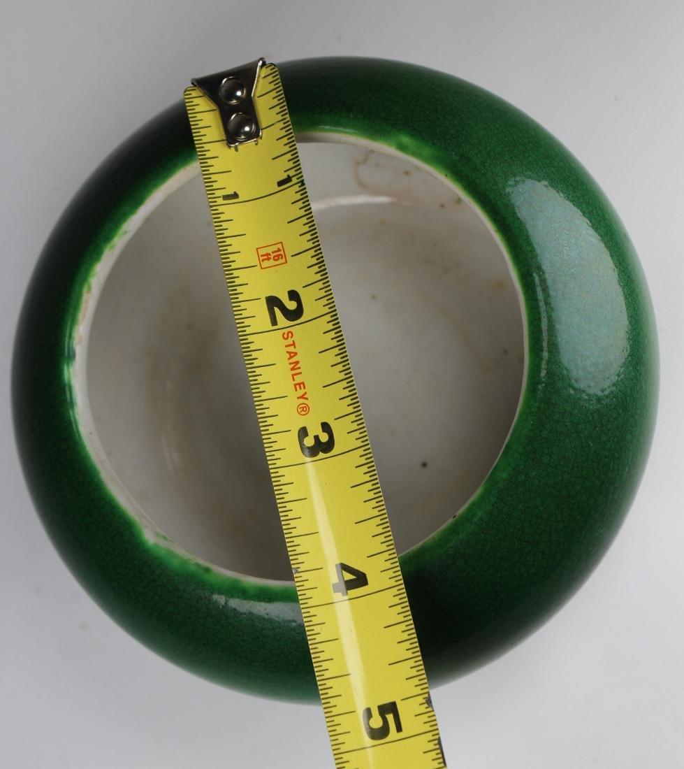 Chinese Glazed Crackleware Porcelain Bowl, Signed - 3