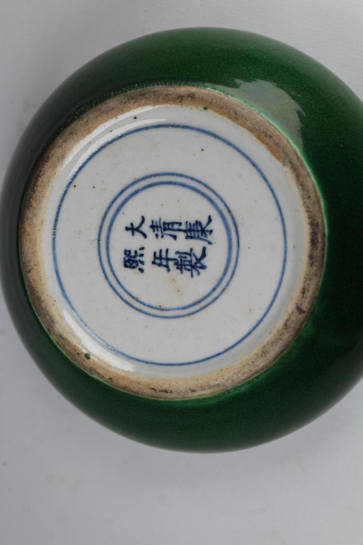 Chinese Glazed Crackleware Porcelain Bowl, Signed - 4