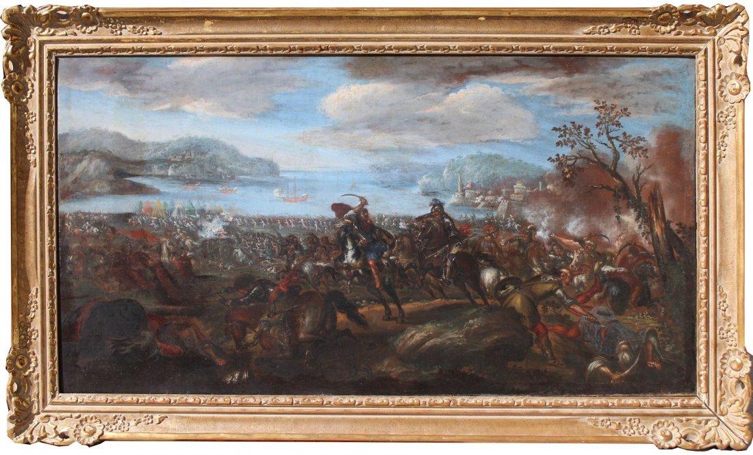 Ilario Spolverini (1657-1734) Large Battle Scene