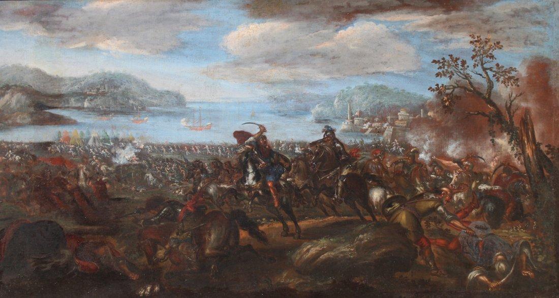 Ilario Spolverini (1657-1734) Large Battle Scene - 2