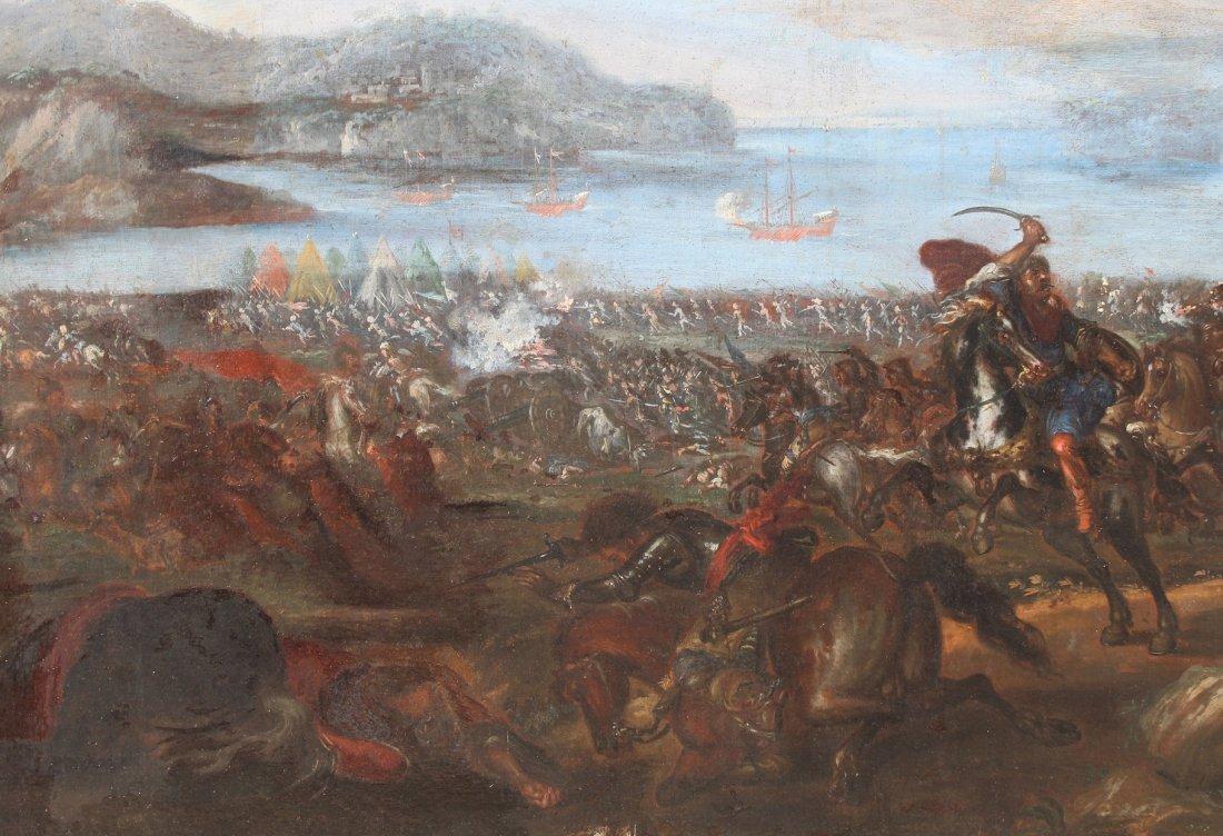 Ilario Spolverini (1657-1734) Large Battle Scene - 3