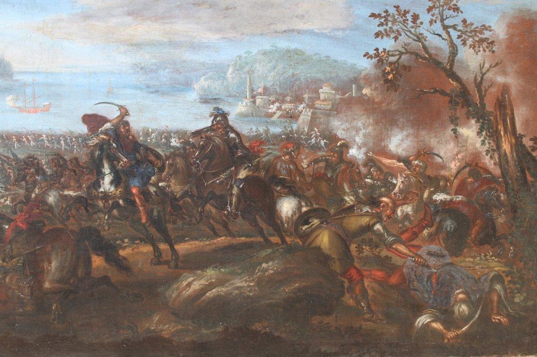 Ilario Spolverini (1657-1734) Large Battle Scene - 4