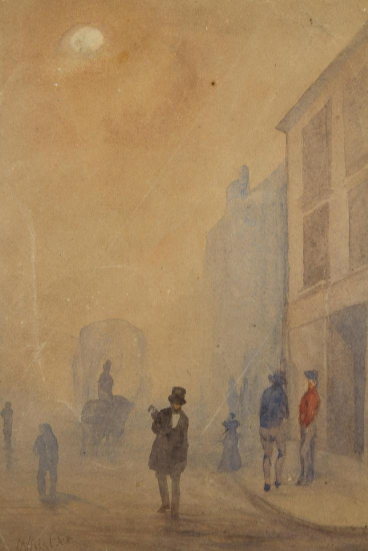 """Signed Whistler, """"Early Morning, Cheapside"""" W/C - 2"""