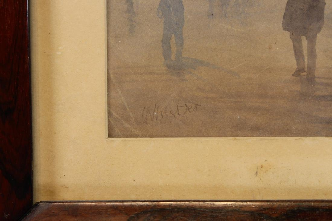 """Signed Whistler, """"Early Morning, Cheapside"""" W/C - 3"""