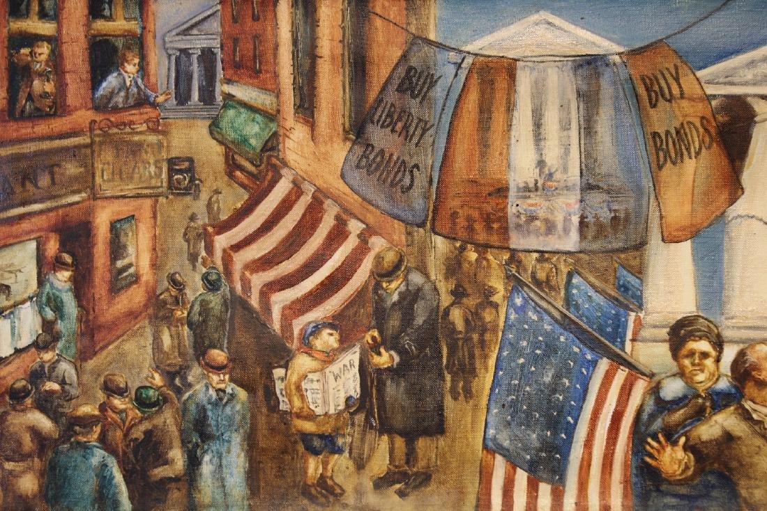 American School, WPA Style WWI Mural Painting - 2