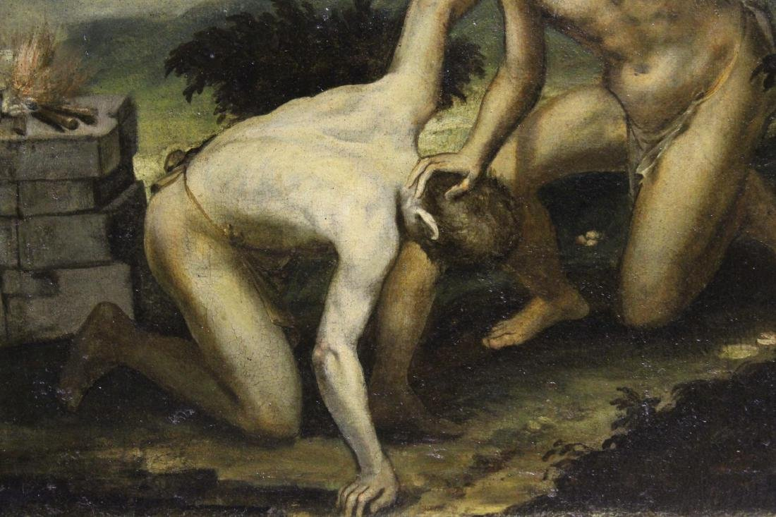 17th C. Old Master Painting of Cain and Abel - 3