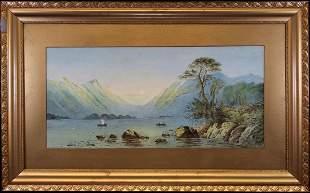 ML Richardson Loch Achray Watercolor