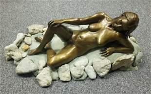 Rich Hagar 20th C Female Nude Sculpture