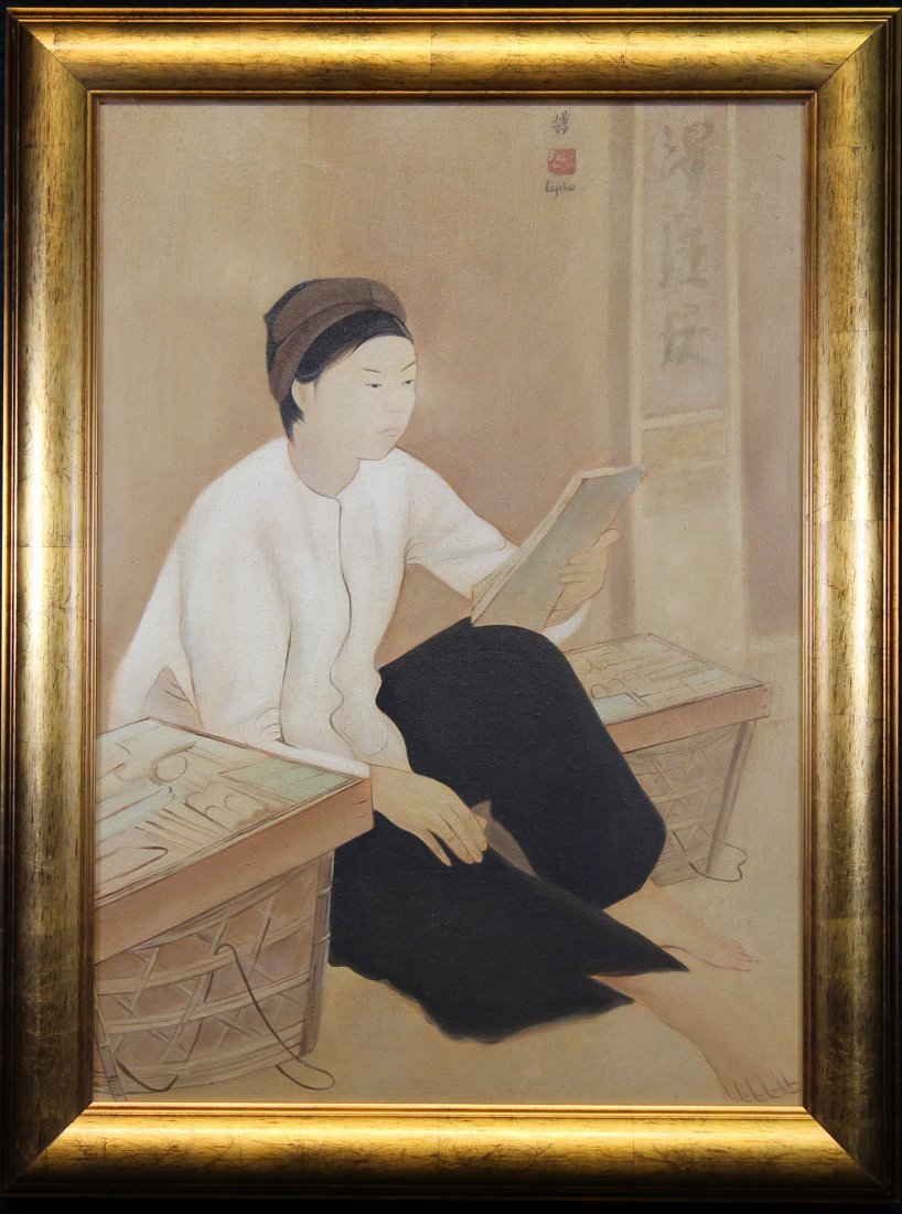 Attributed to Le Pho, Painting of Figure