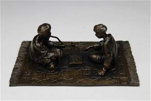 Bronze Orientalist Figural Grouping Signed