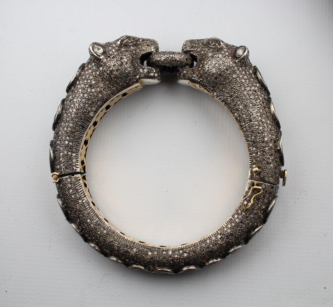 Unusual Panther Bracelet, 15ct Diamonds