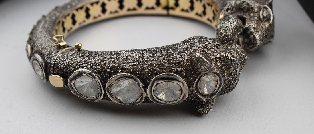 Unusual Panther Bracelet, 15ct Diamonds - 2