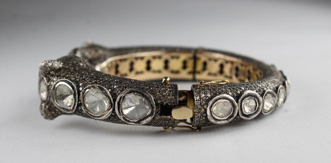 Unusual Panther Bracelet, 15ct Diamonds - 4