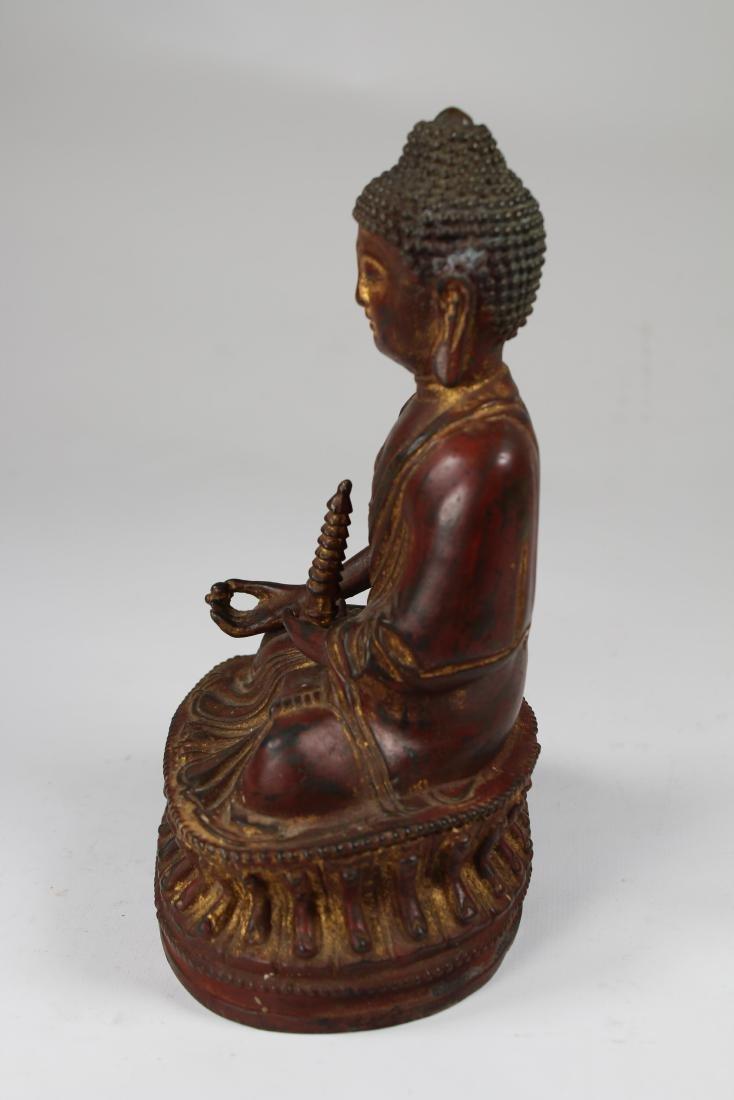 Early Antique Bronze Bhaisajyaguru Buddha - 3