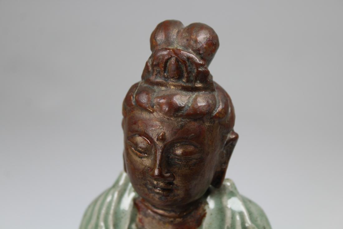 Chinese Longquan Glazed Guanyin Figure - 2