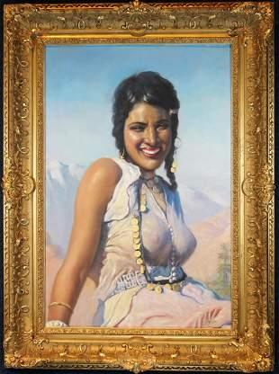 """""""Oriental Beauty"""" Adam Styka (NY, Polish, 1890 - 1951)"""