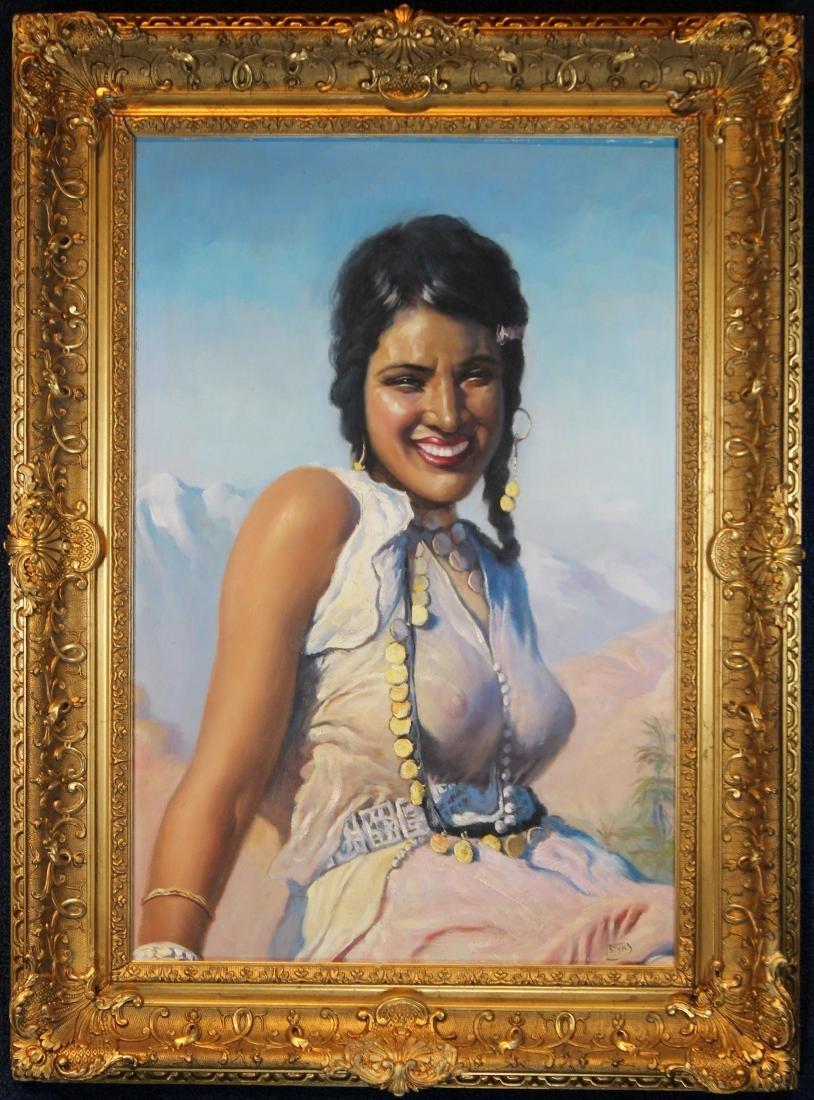 """""""Oriental Beauty"""" Adam Styka (NY, Polish, 1890 - 1951) - 6"""