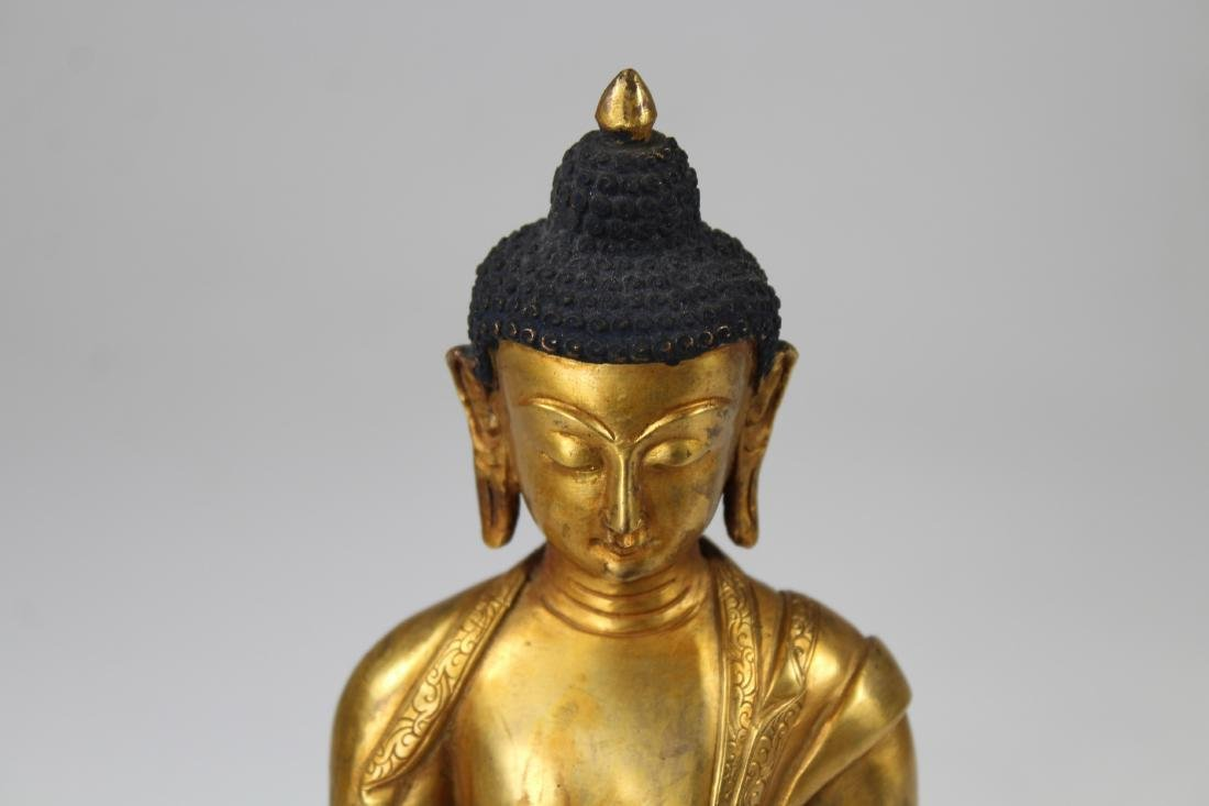 Sino-Tibetan Gilt Bronze Vairochana Buddha - 3