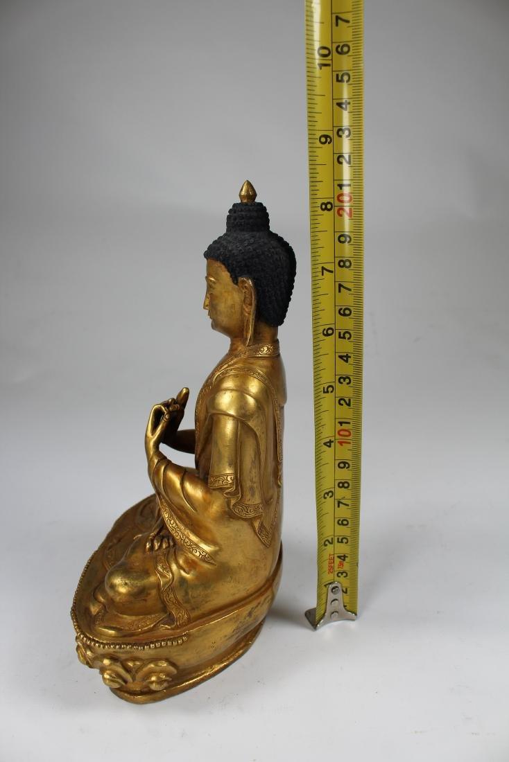 Sino-Tibetan Gilt Bronze Vairochana Buddha - 5