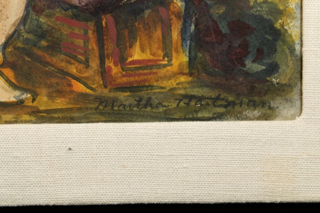 """American WPA Era, """"Aerialists at Rest"""" Signed W/C - 3"""
