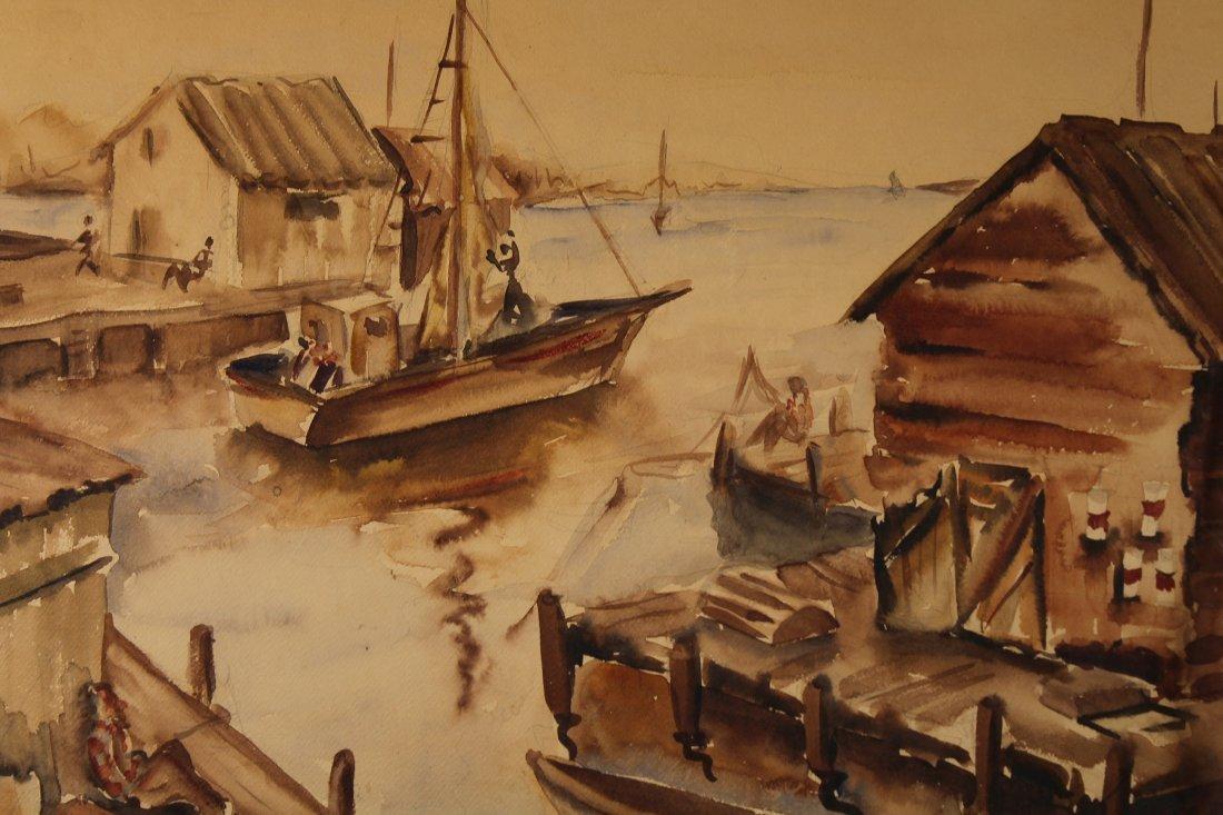 """Fishing Docks, Dorchester"" American School W/C - 2"