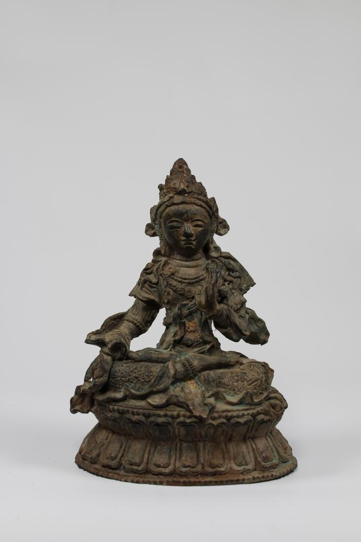 Early Antique Chinese Seated Buddha White Tara