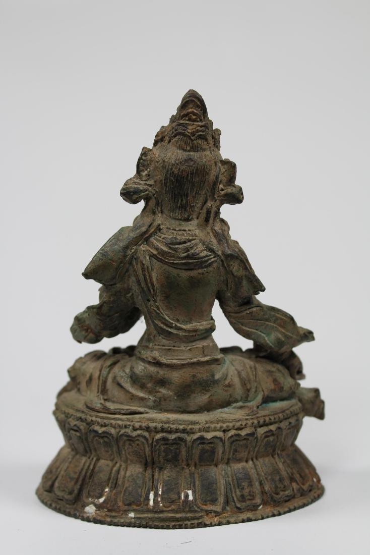Early Antique Chinese Seated Buddha White Tara - 4