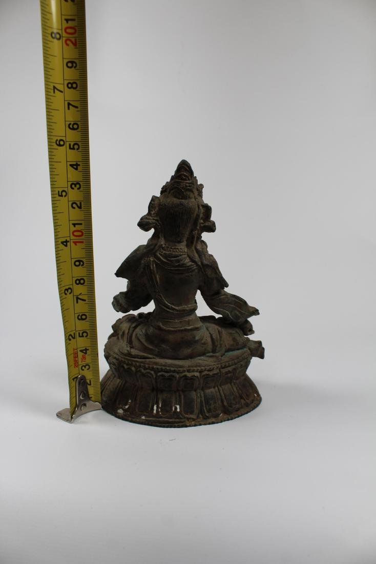 Early Antique Chinese Seated Buddha White Tara - 5
