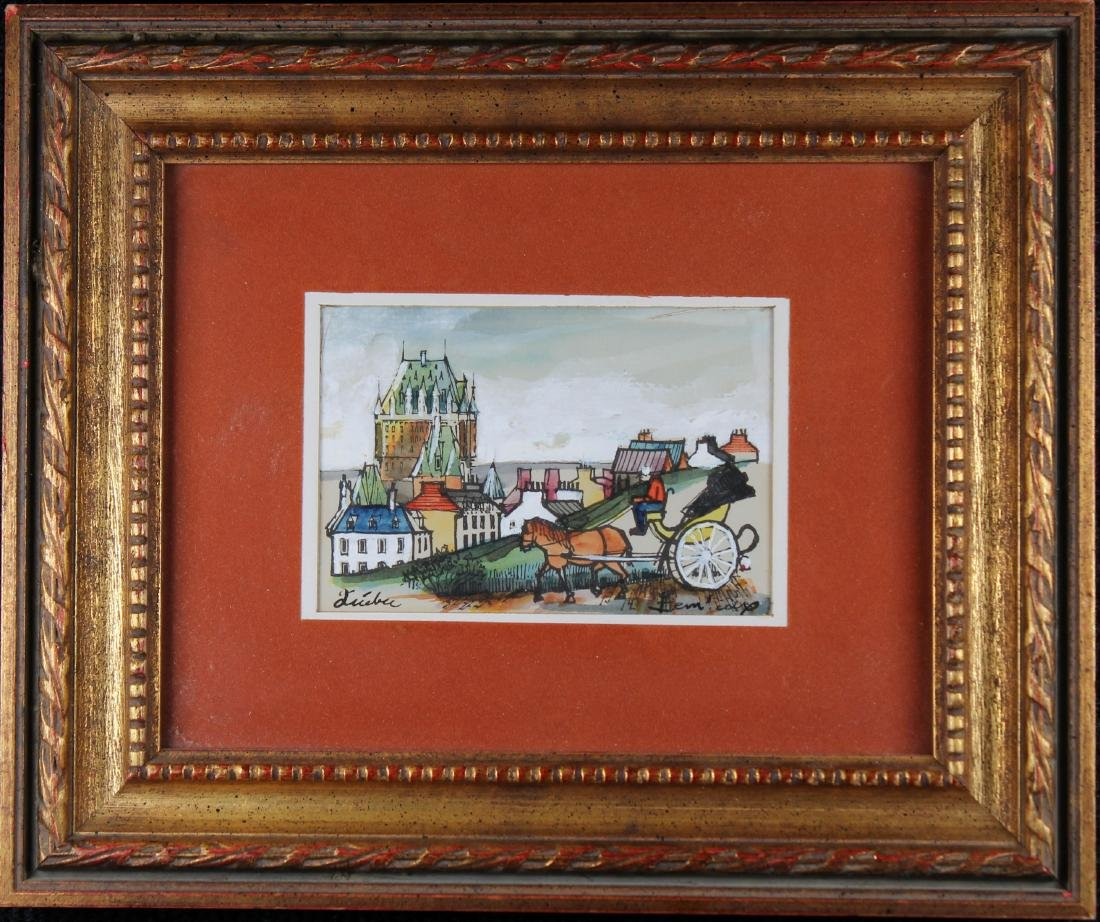 20th C. Painting of Quebec, Signed