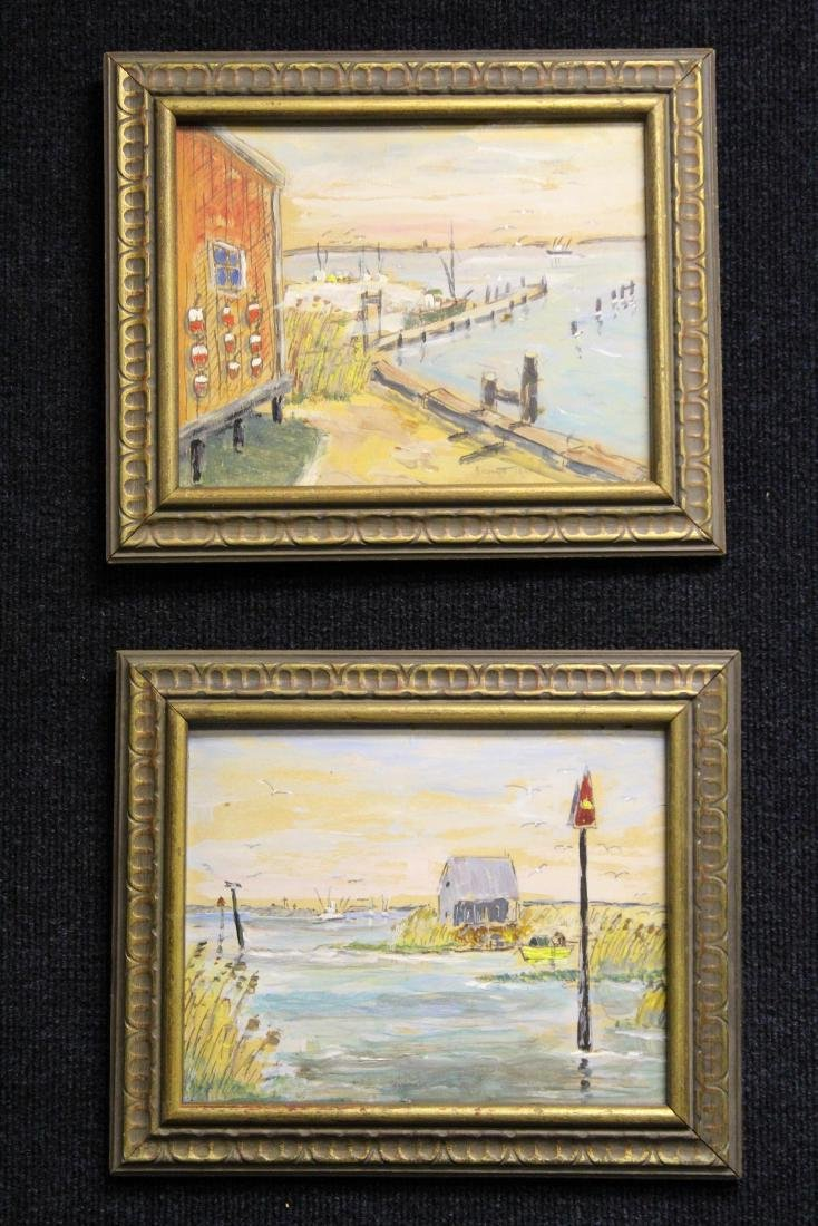 (2) American School Harbor Scenes