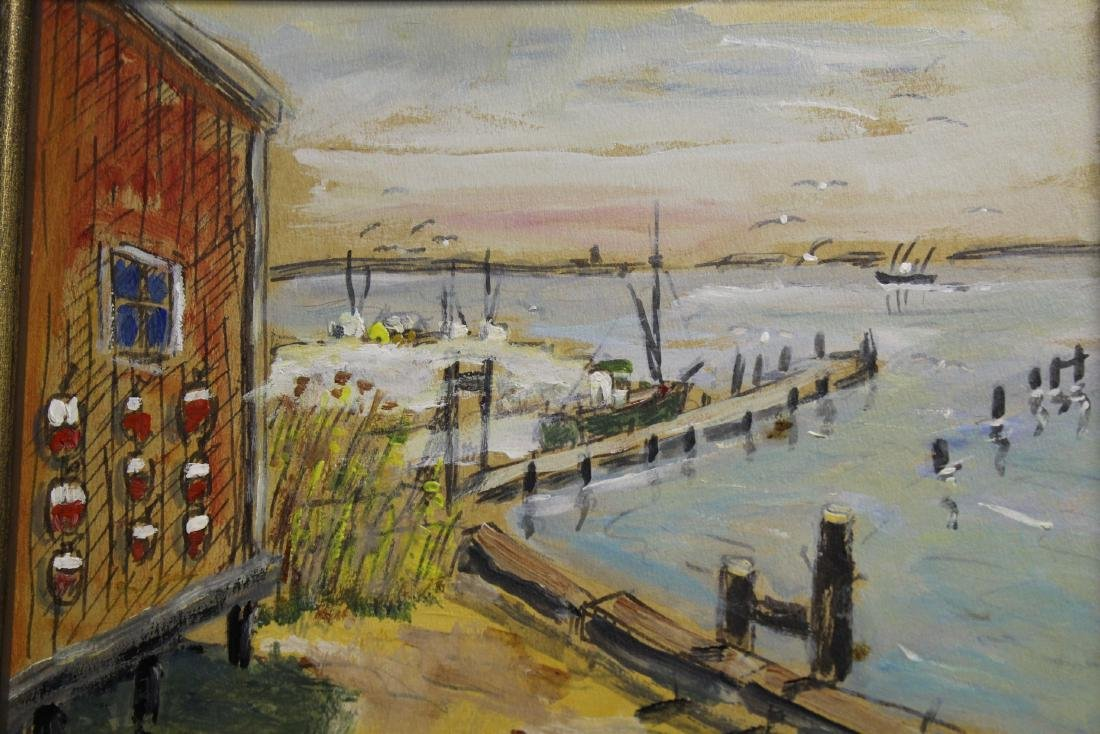 (2) American School Harbor Scenes - 2