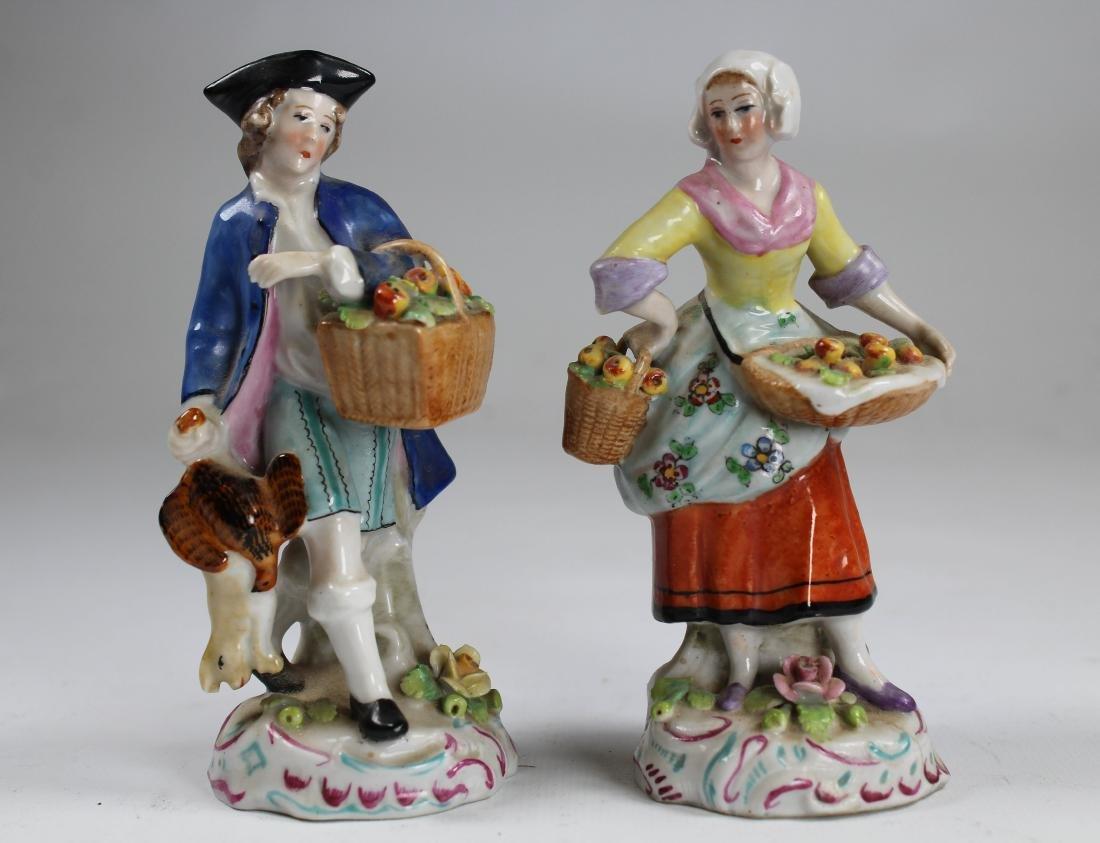 (2) German Sitzendor Porcelain Figurines