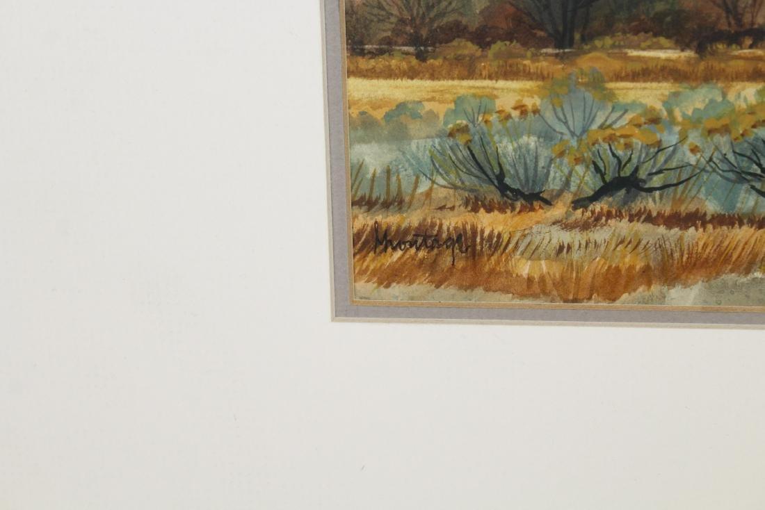 Signed, 20th C. Desert Scene Watercolor - 2
