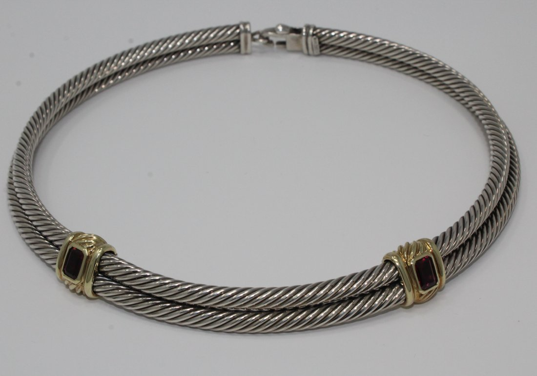 David Yurman Amethyst Cable Choker Necklace