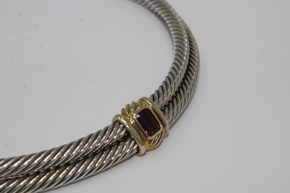 David Yurman Amethyst Cable Choker Necklace - 2