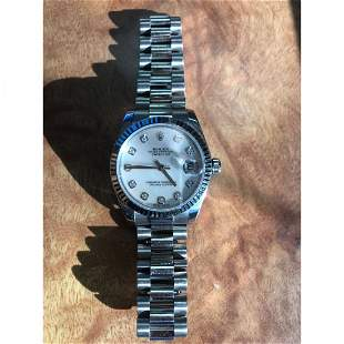 18K WG/Diamond Rolex Oyster Perpetual Datejust Watch
