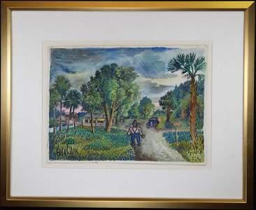 """David Burliuk (1882-1967) """"Sarasota Florida"""", '46"""