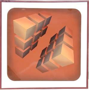"Marko Spalatin (American, B. 1945) ""Cubes Opposed"""