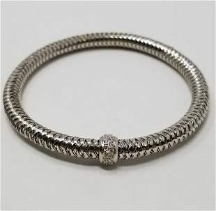 Roberto Coin 18K WG Primavera Stretch Bracelet