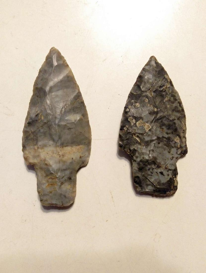 (2) Adena Culture Woodland Period Stemmed Points - 3