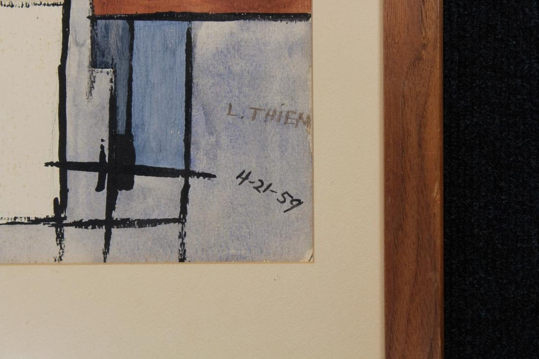 Thiem, Signed 1959 Abstract Mixed Media - 3