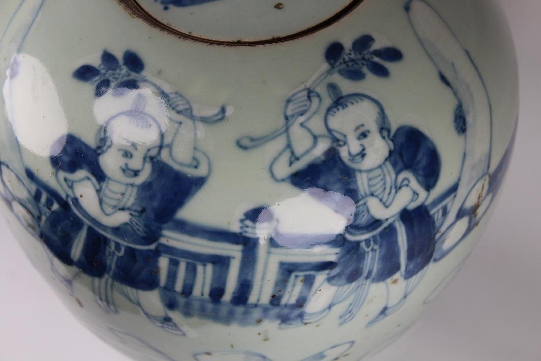 Early Antique Chinese Porcelain Ginger Jar - 2