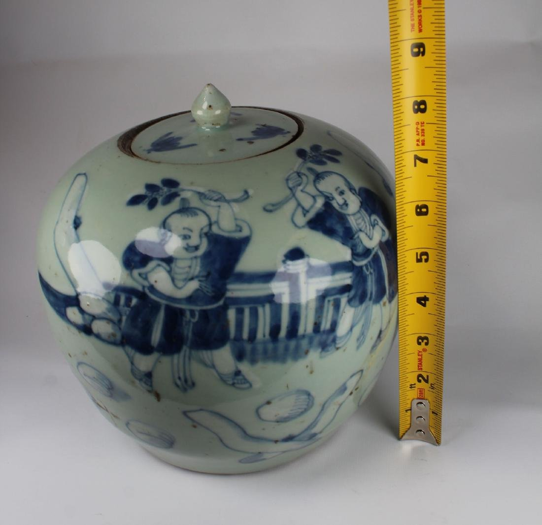 Early Antique Chinese Porcelain Ginger Jar - 4