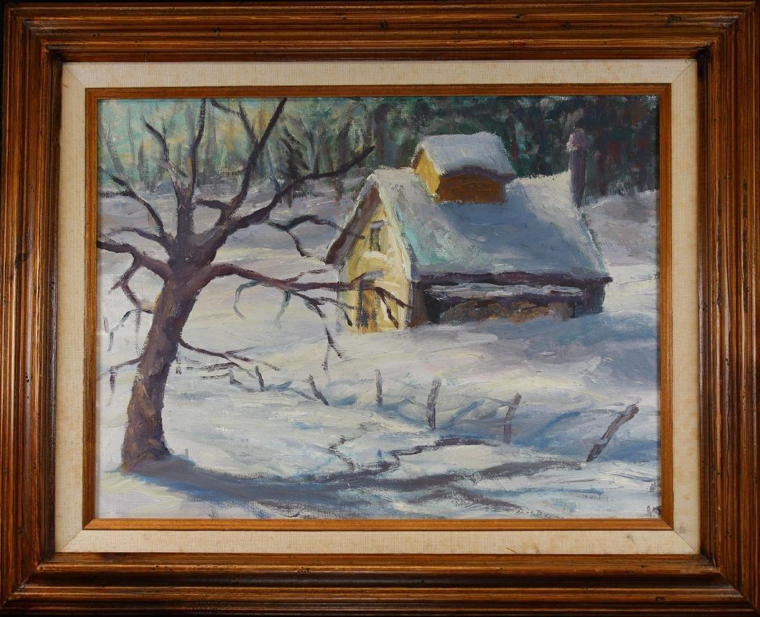 American School, Winter Landscape Painting