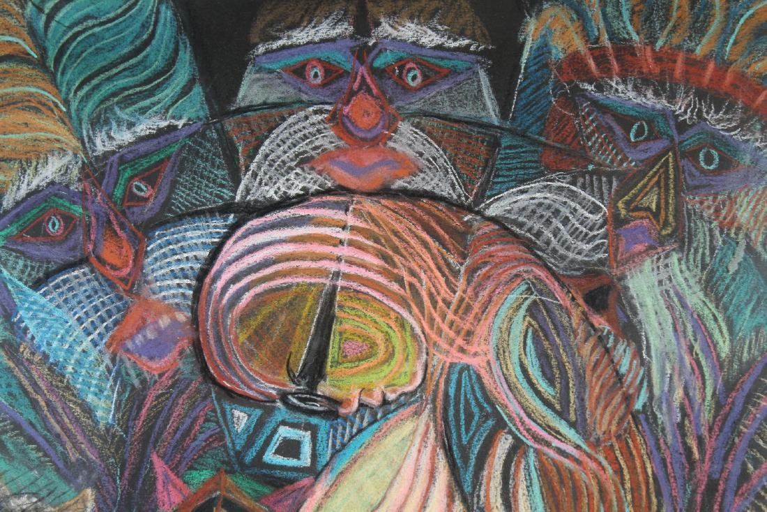 Tom Benson, 20th C. Figural Abstract Mixed Media - 2