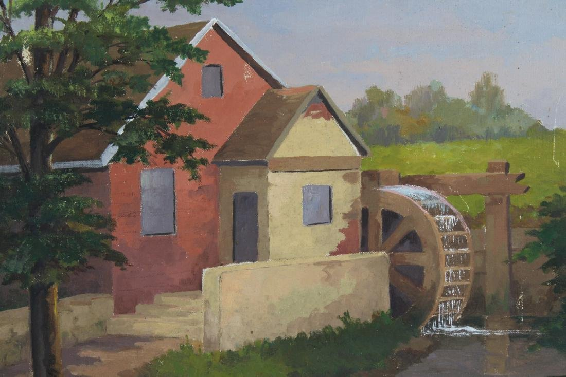 Signed, American School Painting of a Farmhouse - 2