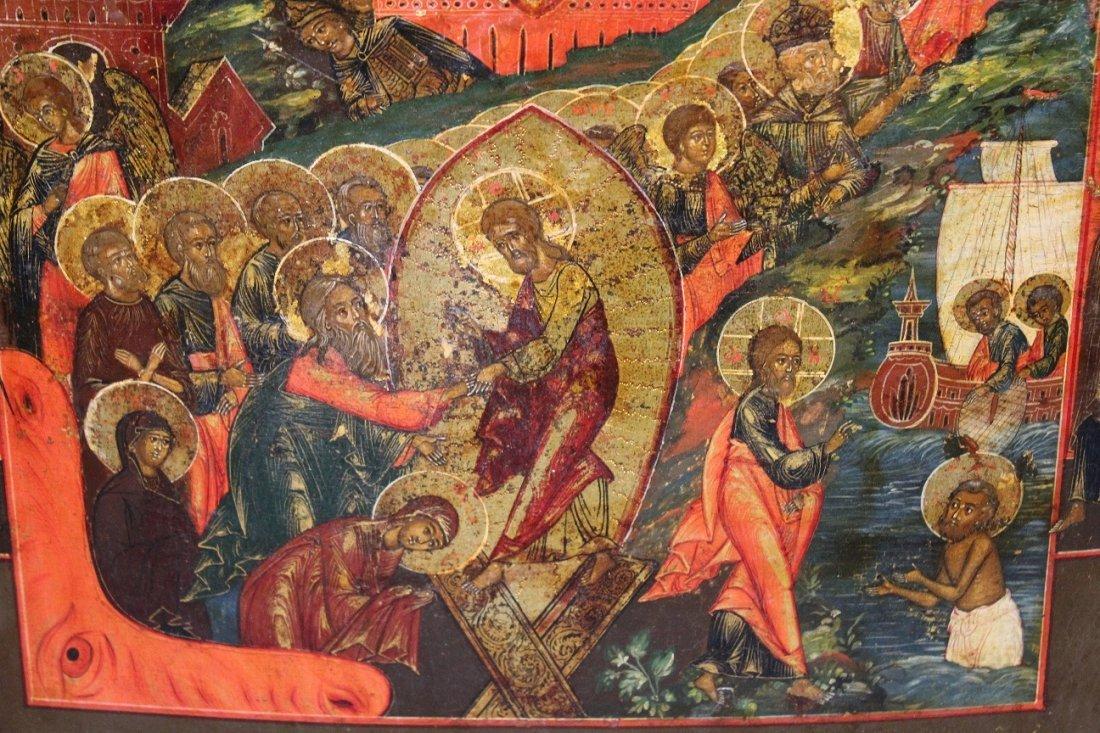 "Antique Russian Icon ""The Resurrection II"" - 2"