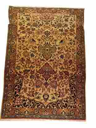 Antique Persian Tabriz Prayer Rug