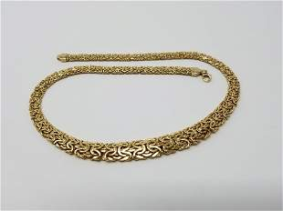 Atasay 14K Gold Designer Chain Necklace